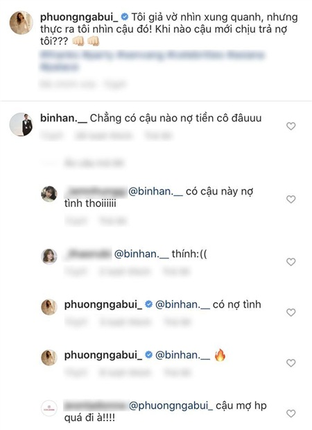 Phương Nga chia sẻ dòng trạng thái đòi nợ với ý thả thính, Bình An liền bình luận xác nhận khiến fan ngưỡng mộ về độ ngọt ngào trong tình cảm của cả 2.