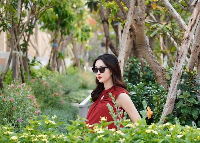 Hoa hậu Đặng Thu Thảo qua ống kính của ông xã: Có 'phát tướng' khi mang bầu nhưng nhan sắc vẫn đẹp bất chấp 3