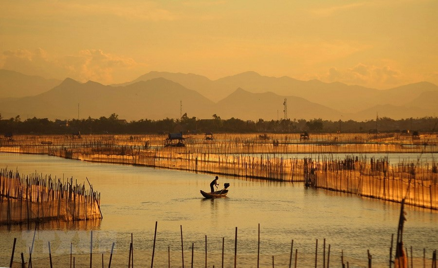 Khung cảnh yên bình ở phá Tam Giang.