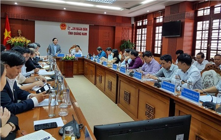 UBND tỉnh Quảng Nam đã có buổi làm việc với ĐH Đà Nẵng vào ngày 8-1. Ảnh: TN