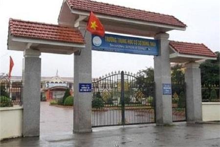 Trường THCS Đồng Thái (An Dương, Hải Phòng), nơi nữ hiệu phó bị tố bắt học sinh tự tát vào mặt. Ảnh: Lao động