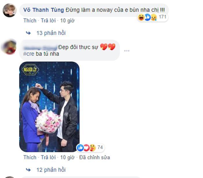 Bình luận của Divkid trên facebook cá nhân nữ ca sĩ.