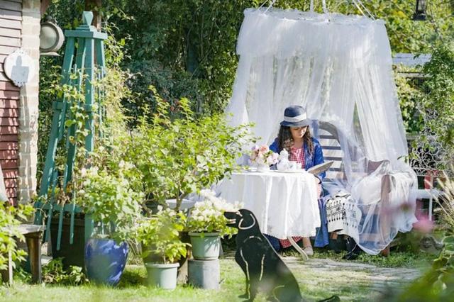 Góc thư giãn trong vườn.