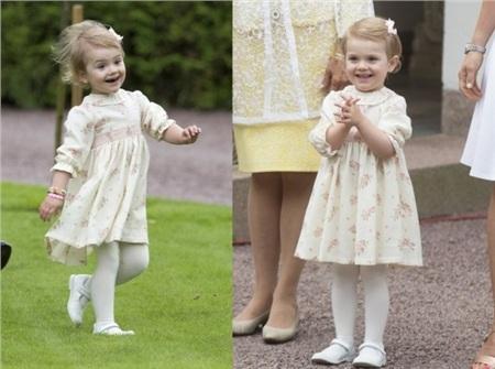 Tiểu công chúa Thụy Điển nổi tiếng với vẻ lí lắc, đáng yêu.