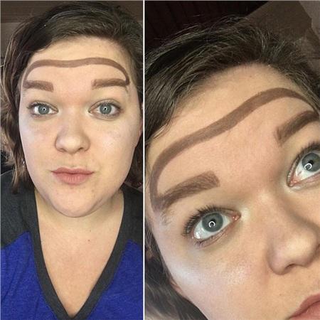 Trend mới kỳ quặc của phái đẹp trên Instagram: Các chị em xê ra để lông mày nhọ nồi 'vô cực' lên ngôi! 0