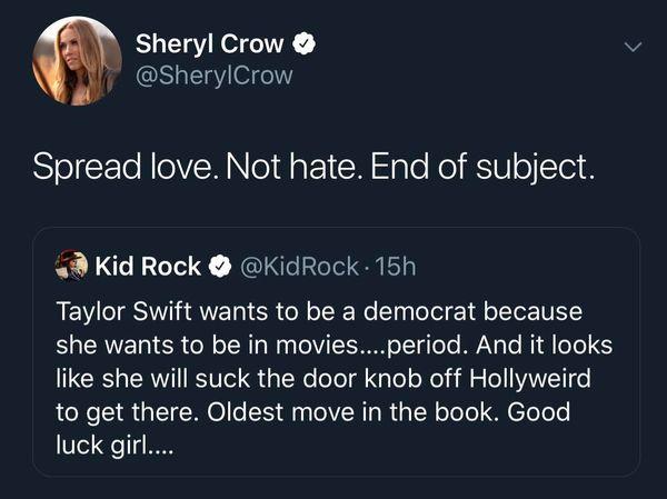 Không chỉ có các fan mà kể cả đàn chị của Taylor cũng đã ra mặt đáp trả ý kiến ngông cuồng của chàng rapper.