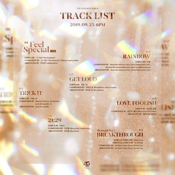 Tất cả các thành viên của TWICE đều tham gia vào khâu sáng tác cho album lần này.