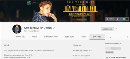 Kênh Youtube Mỹ Tâm lộ lượng đăng ký 'khủng', hot như Sơn Tùng M-TP cũng phải cúi đầu chào thua 3