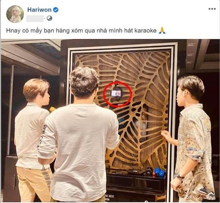 Hari Won khoe ảnh Trấn Thành hát karaoke 'cực sung' cùng hàng xóm, nhưng fan lại soi ra chi tiết sai quá sai này… 1