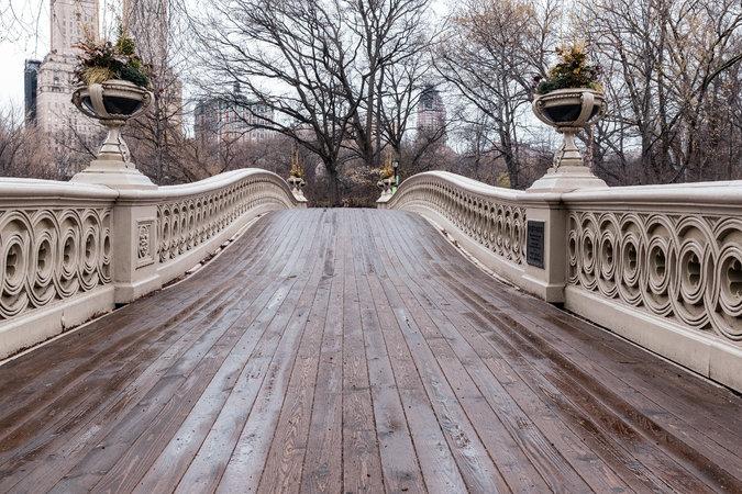 Cầu Bow trong công viên Central.