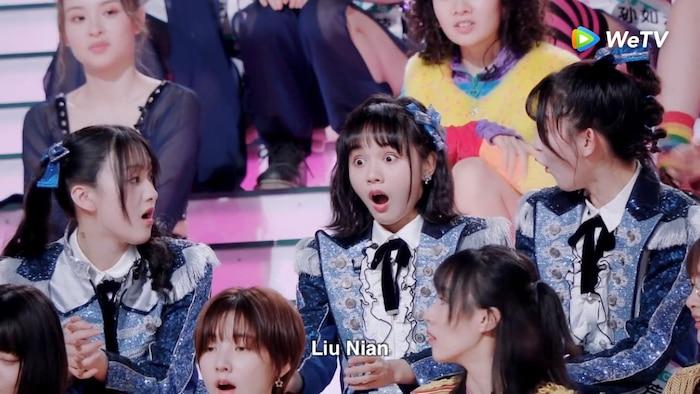 Vẻ mặt ngạc nhiên của Lưu Niệm khi được HLV Đại Trương Vỹ gọi tên