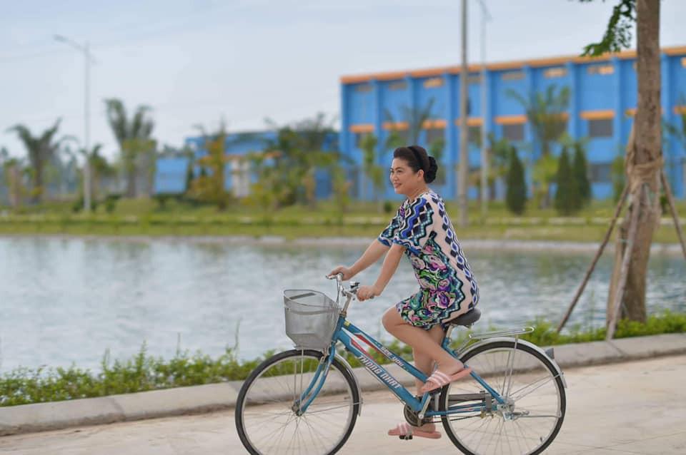Chị hay đi xe đạp...