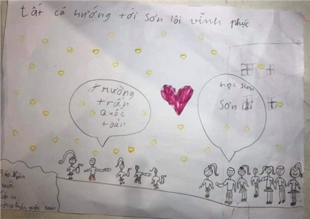 Tâm thư xúc động của học trò Hà Nội gửi học sinh Vĩnh Phúc: 'Các bạn có thiếu gì không, chúng mình gửi lên nhé. Covid-19 sẽ đầu hàng thôi!' 2