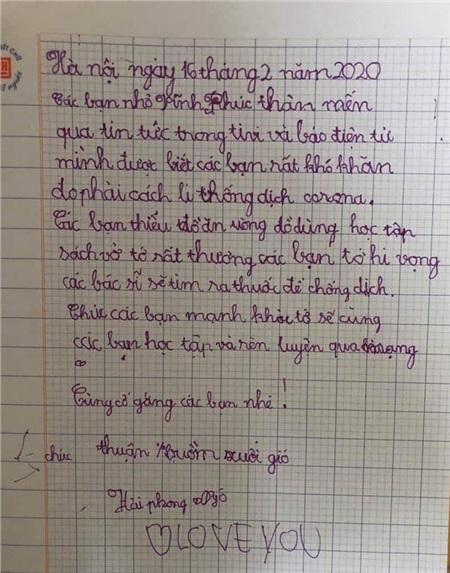 Tâm thư xúc động của học trò Hà Nội gửi học sinh Vĩnh Phúc: 'Các bạn có thiếu gì không, chúng mình gửi lên nhé. Covid-19 sẽ đầu hàng thôi!' 9