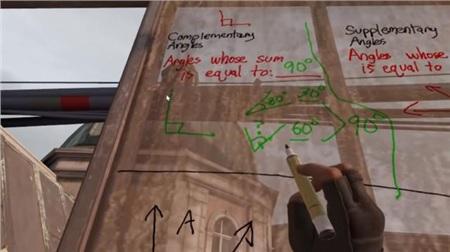 Học online sướng như game thủ khi được thầy giáo dùng hẳn Half-Life: Alyx để dạy toán 3
