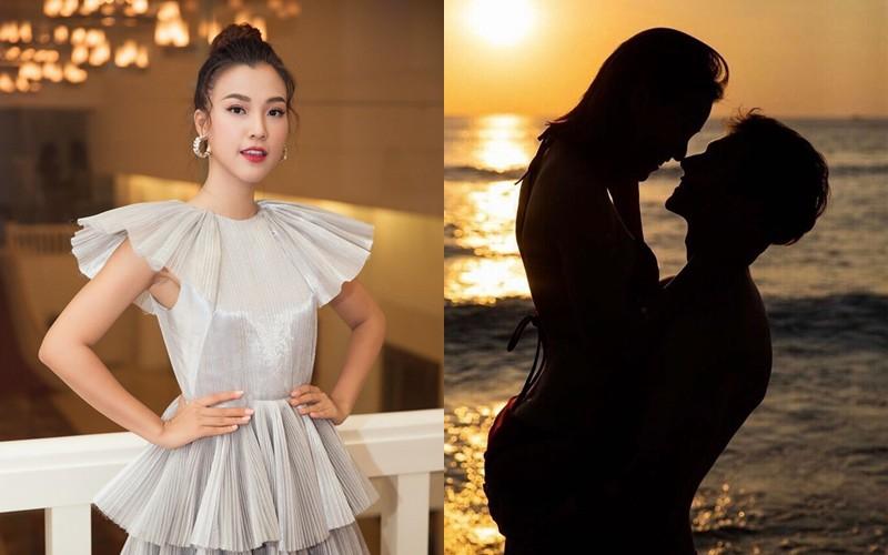 Hoàng Oanh đã ra mắt gia đình bạn trai nhưng chưa tiết lộ gì về chuyện lâu dài.