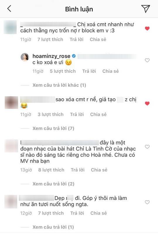Hòa Minzy gây tranh cãi vì quá gay gắt trước lời khuyên chân thành của fan 3