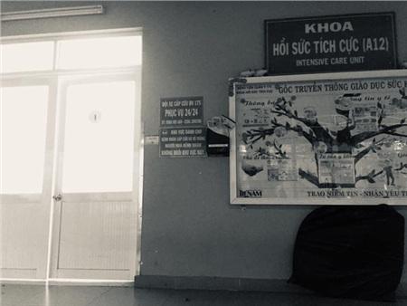 Phòng hồi sức tích cực, nơi nghệ sĩ Lê Bình đang được cấp cứu.
