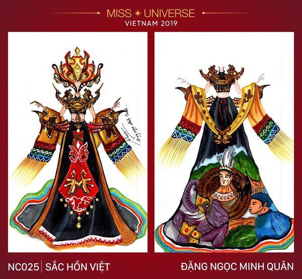 Trang phục dân tộc dành cho Hoàng Thùy bị tố 'đạo nhái' ý tưởng từ bộ của Á hậu Thùy Dung 7
