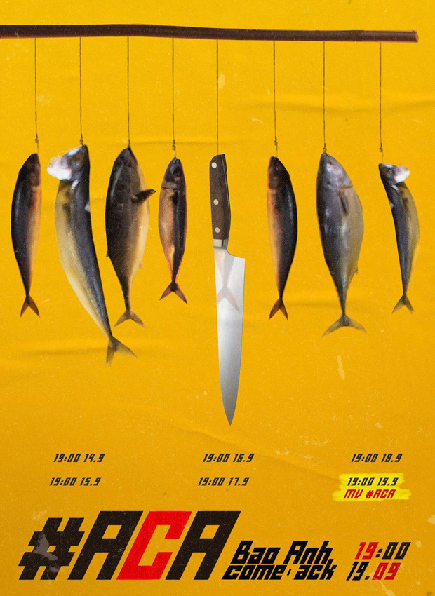 Hình ảnh poster MV được Bảo Anh hé lộ.