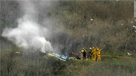Hiện trường vụ tai nạn rơi trực thăng thảm khốc.
