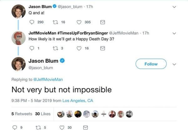 Dòng trạng thái trên Twitter của nhà sản xuất Blum.