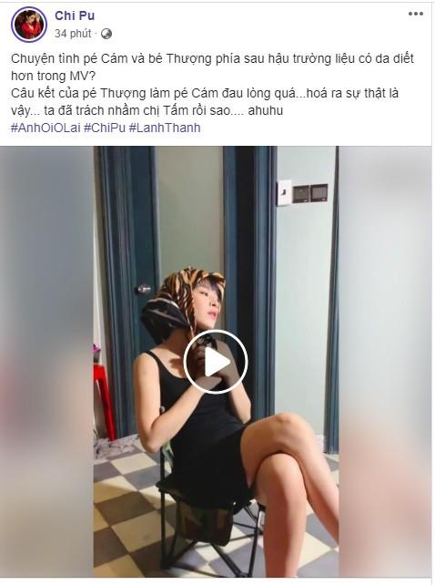 Dòng trạng thái và đoạn clip được Chi Pu chia sẻ trên trang cá nhân.