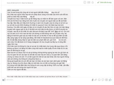 Những dòng chia sẻ của cô gái trên mạng xã hội.