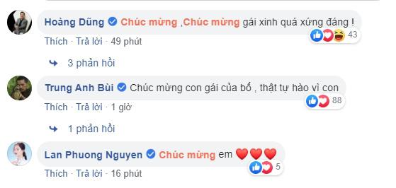 Dàn diễn viên VTV gửi lời chúc mừng đến Bảo Thanh.