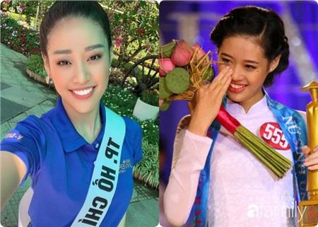 Ngay cả khi đăng quang Miss Áo Dài Nữ Sinh Việt Nam 2013 (ảnh trái) Khánh Vân vẫn giữ nguyên nét duyên đặc biệt nơi hàm răng của mình, thế nhưng sau này khi đã trở thành một trong những người mẫu sáng giá với giải Bạc Siêu mẫu Việt Nam, có vẻ như Khánh Vân đã chỉnh lại hàm răng của mình.