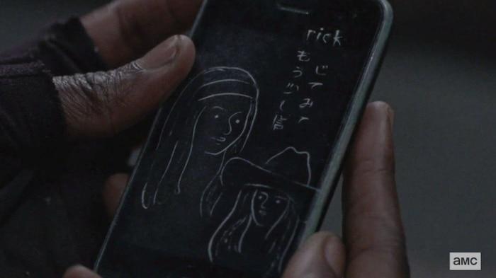 Chiếc điện thoại được Michonne tìm thấy