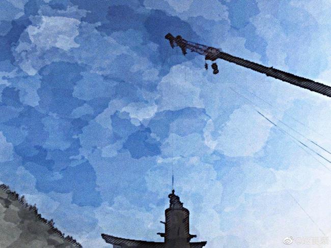 Bức ảnh trên cao do Triệu Lệ Dĩnh đăng trên Weibo cá nhân.