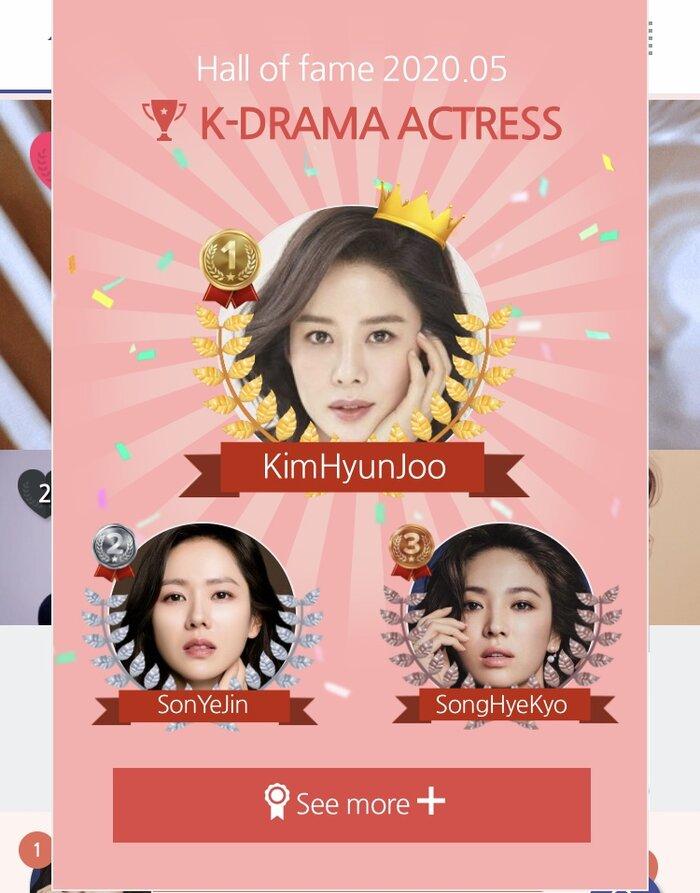 Top 20 nữ diễn viên Hàn tháng 5: Đánh bại Son Ye Jin - Song Hye Kyo, 'tình đầu' của So Ji Sub đứng nhất 4 tháng liền 0