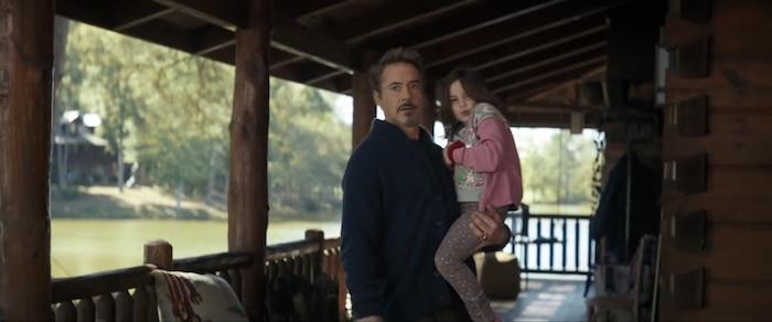 Tony nghỉ hưu, sống cùng vợ và con gái sau khi Infinity War kết thúc