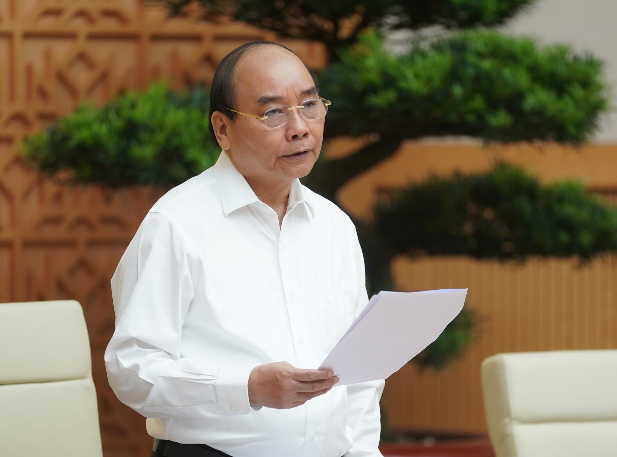Thủ tướng Nguyễn Xuân Phúc nhấn mạnh tinh thần không lùi bước trước khó khăn. Ảnh: VGP/Quang Hiếu
