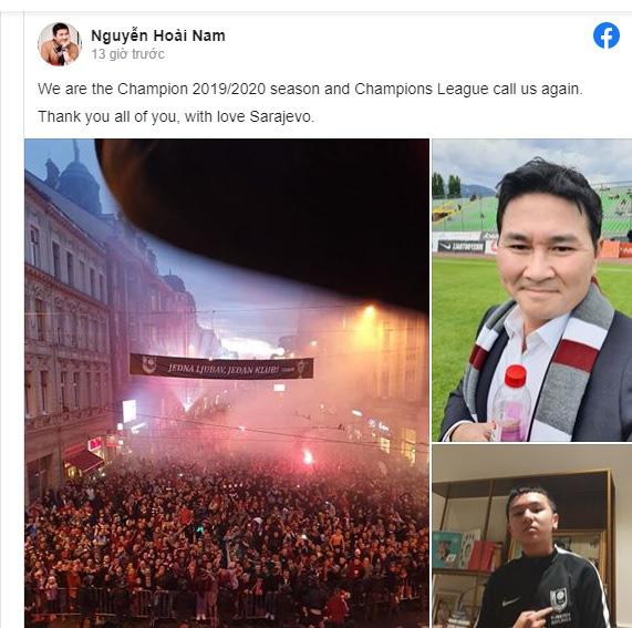 Doanh nhân Hoài Nam đăng trên mạng xã hội ngày 2/6.