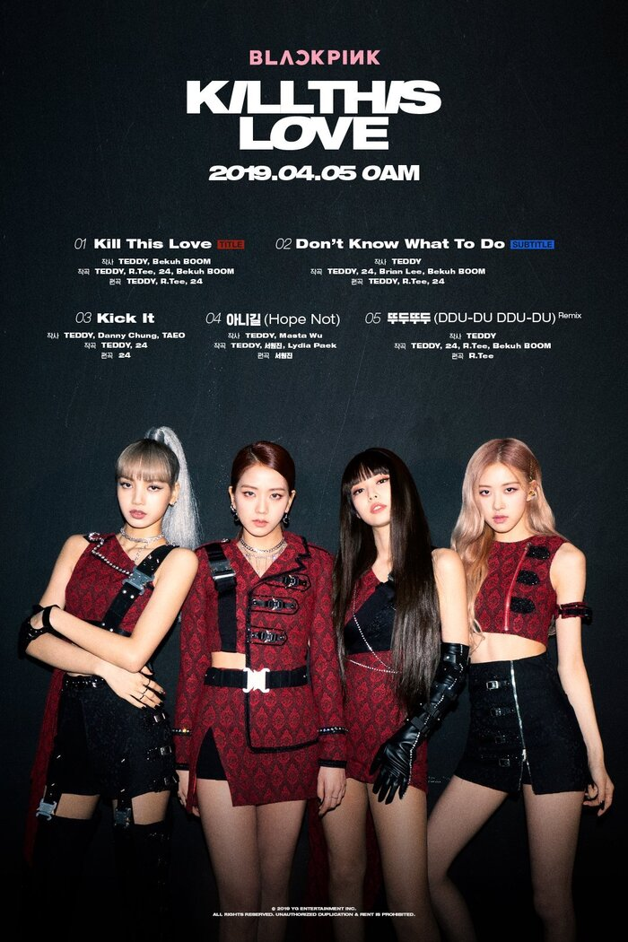 Tracklist Kill This Love - BlackPink.