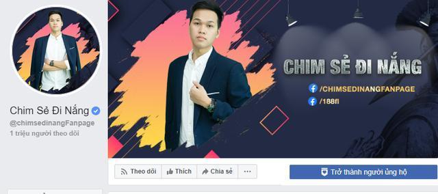 Fanpage Chim Sẻ Đi Nắng đã chính thức đạt 1 triệu người theo dõi.