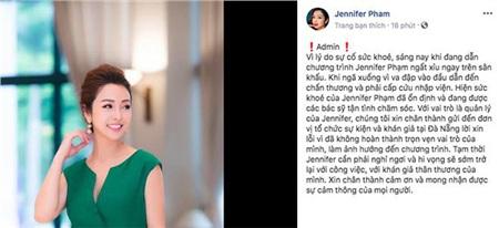 Thông báo trên trang cá nhân của Jennifer Phạm.