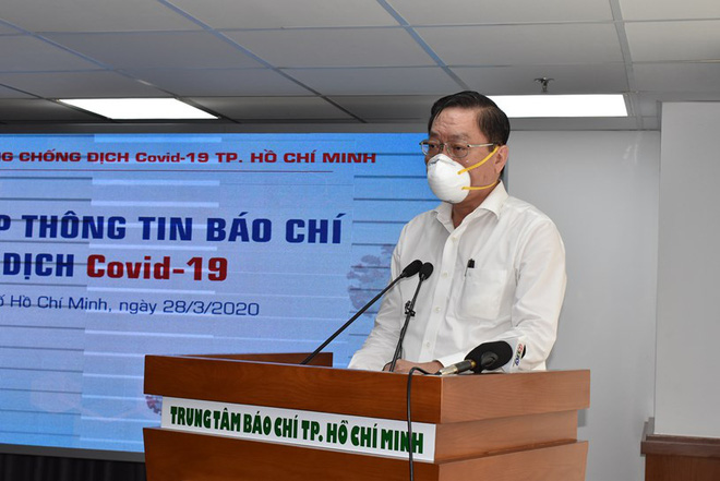 Ông Nguyễn Tấn Bỉnh thông tin với báo chí chiều 28/3 - Ảnh: TTBC