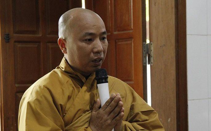 Nhà sư Thích Thanh Toàn tại cuộc họp ngày 5-10 - Ảnh: CTV