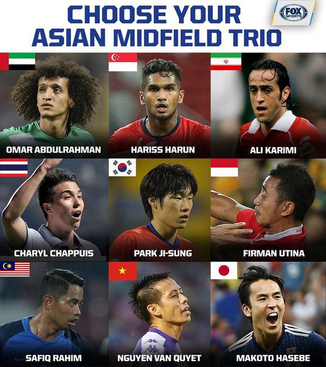 Văn Quyết sánh vai cùng Park Ji-sung vào nhóm tiền vệ hay nhất châu Á 0