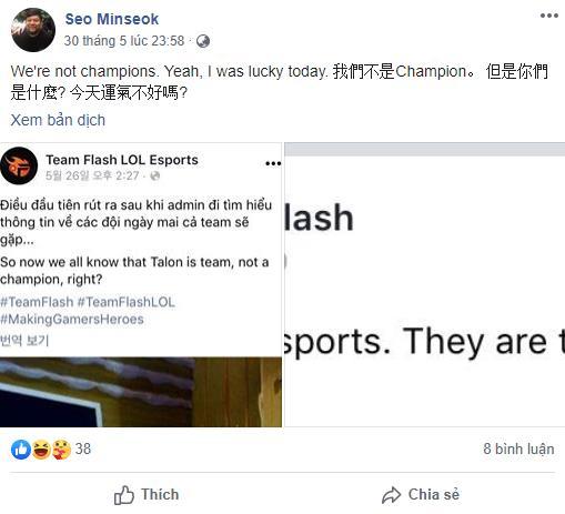 LMHT: HLV trưởng của Talon Esports liên tục lăng mạ Team Flash ngay sau khi lên ngôi vô địch giải giao hữu PCSxVCS 4