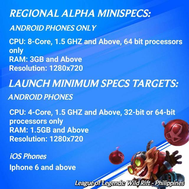Cấu hình cho phiên bản Alpha Test LMHT: Tốc Chiến sắp tới