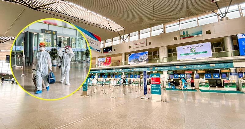 Sân bay ngày cách ly toàn xã hội, hành khách trang bị hẳn đồ bảo hộ để phòng dịch Covid-19