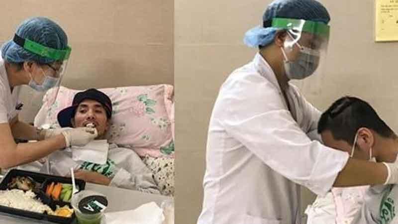 Hình ảnh người thầy thuốc hết lòng chăm sóc bệnh nhân giữa tâm dịch Covid-19