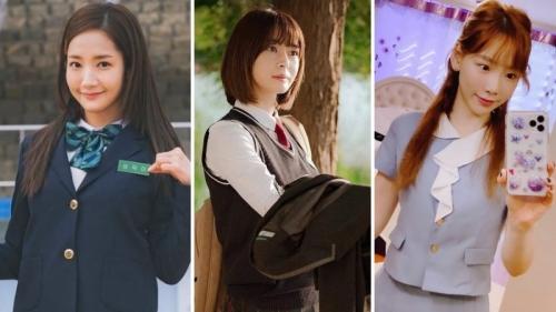 U40 Park Min Young, Kwon Nara, Taeyeon không ngại 'cưa sừng làm nghé' với đồng phục nữ sinh
