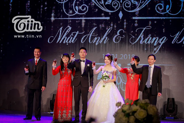 Một số hình ảnh trong lễ cưới của chú rể Nhật Anh Trắng - cô dâuTrang Đinh