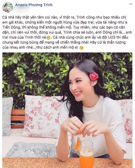 Chia sẻ mới nhất của Angela Phương Trinh