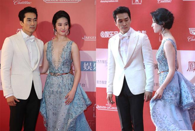 Lưu Diệc Phi và Song Seung Hun được nhận xét là rất xứng đôi dù chênh nhau 10 tuổi.